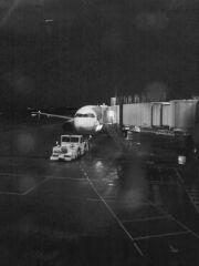 松山空港にて