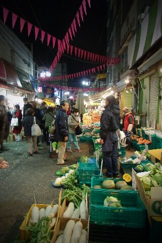年末 横浜松原 商店街風景